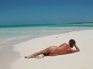 Diane on Cayo Largo beach