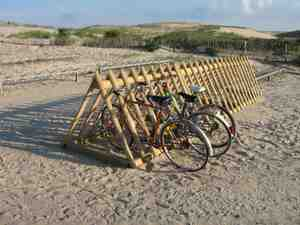 bike racks at the beach