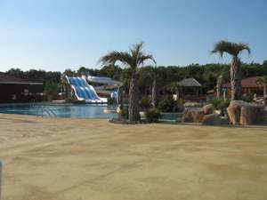 Aquatic fun park at Monta