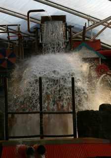 Alton Towers waterfall