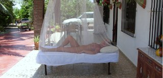 Maggie relaxing at Alicante Nudists