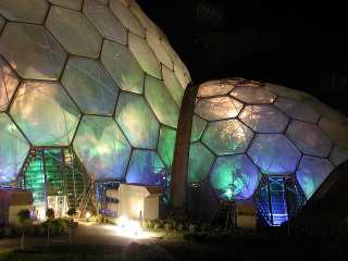 biodomes by night