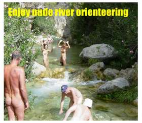 Nude river orienteering