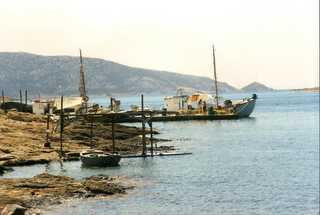 fishing boats in  Koufonisia