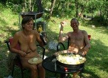 Preparing lamb and potatoes