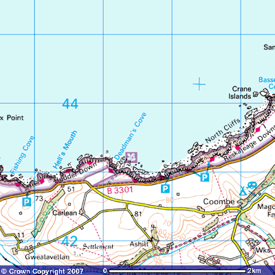 North Cornwall map