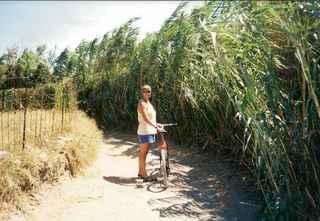 Jan cycling in Naxos