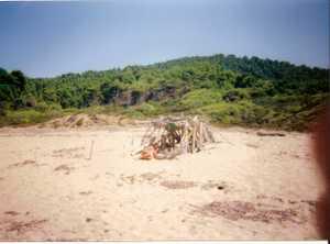 Skiathos - Jan in beach hut