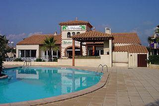 Swimming pool at Leucate