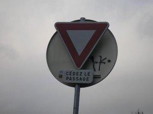 French halt sign
