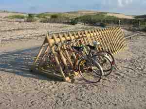 bike racks at the beach