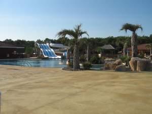 Aquatic fun park at Monta