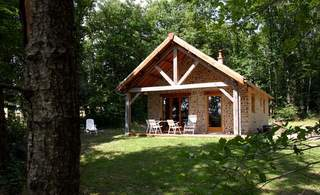 Ecological cottage at Creuse Nature