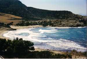Livadia beach on a rough day