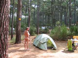 Arnaoutchot outside tent