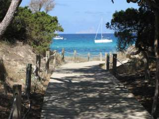 Beach path on Formentera