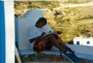 Jan writing diary