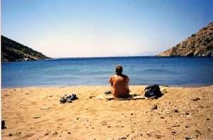 Jan on Greek beach