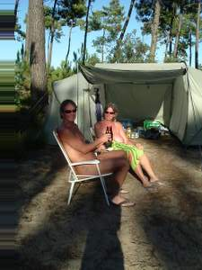 Rog and Jan outside tent