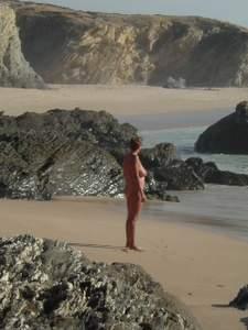 Jan at shoreline, Praia do Salto