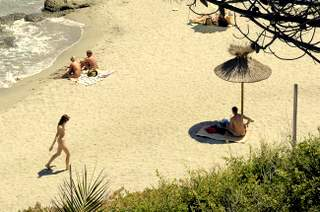 Bagheera beach on Corsica