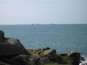 Longships lighthouse from Nanquidno