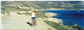 Jan cycling on Naxos
