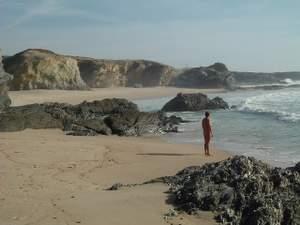 Jan at Praia do Salto, Sines