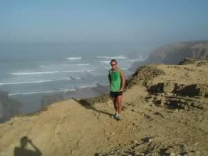 Rog after run at Alteirinhos clifftop
