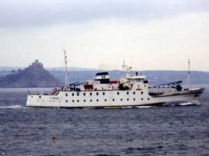 Scillonian sailing past St.Michael's Mount