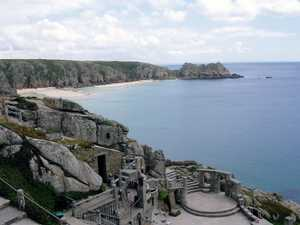 Treen beach from The Minach Theatre