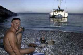 naturist sailing with Vassaliki
