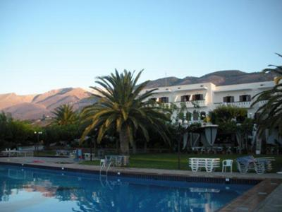 The main hotel from the swimming pool